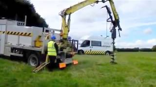Auger Drilling With HSL Utilities Ltd