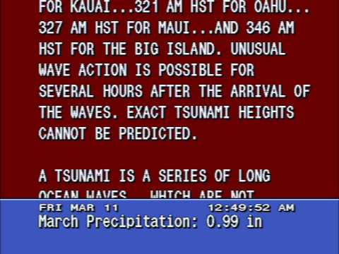 Tsunami Warning - Honolulu, Hawaii