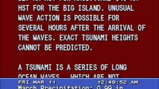 Tsunami Warning - Honolulu, Hawaii