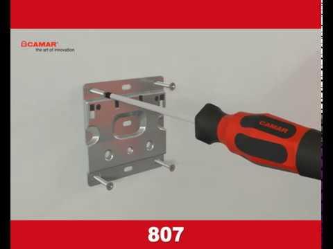 CAMAR | Завеса скрытого крепления корпус-стена 807 | Инструкция по монтажу