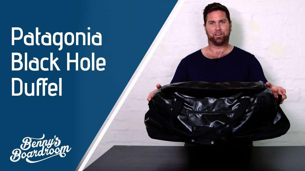 687d4977 Patagonia Black Hole 90L Duffle Bag Walkthrough - Benny's Boardroom ...