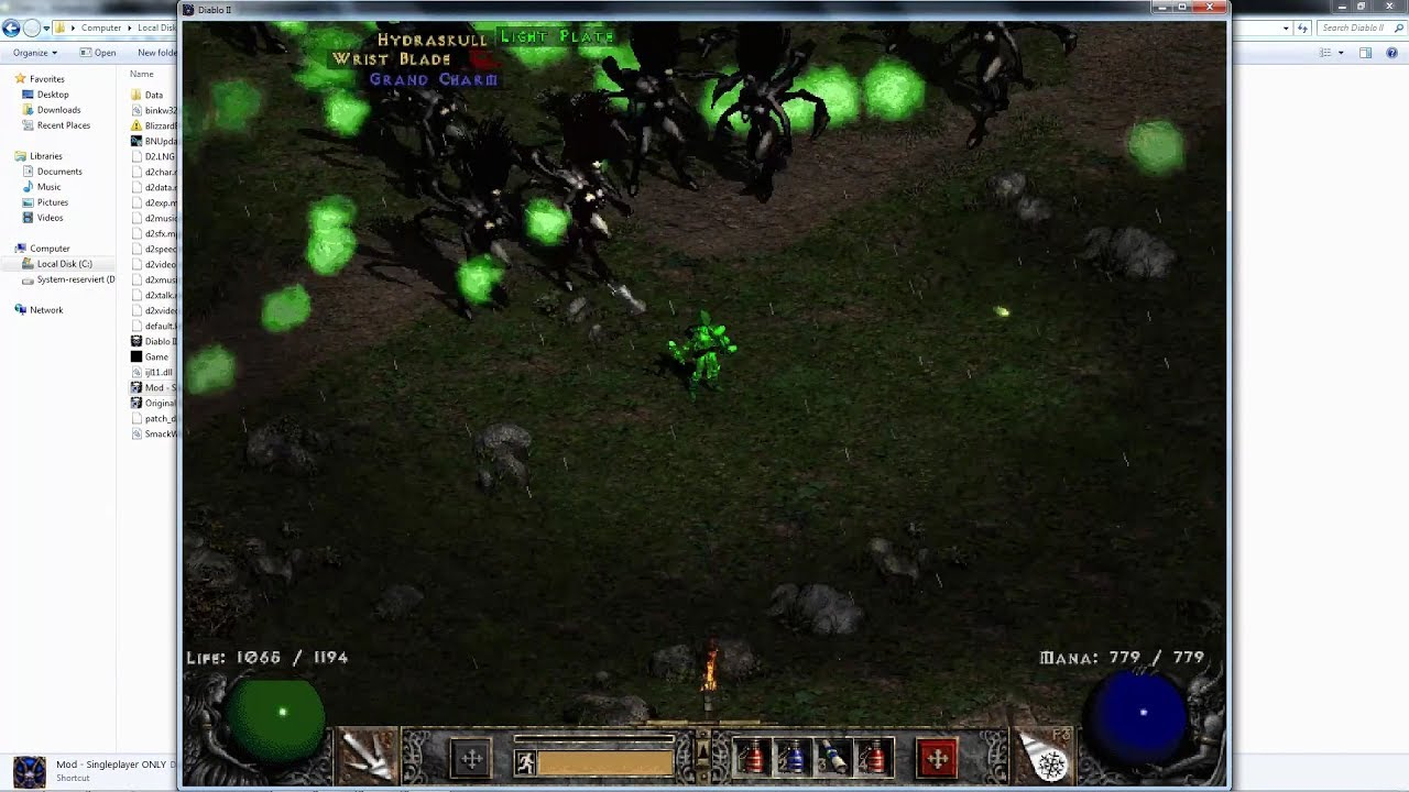 Diablo 2 - Modding Tutorial - Andariels spawn everywhere