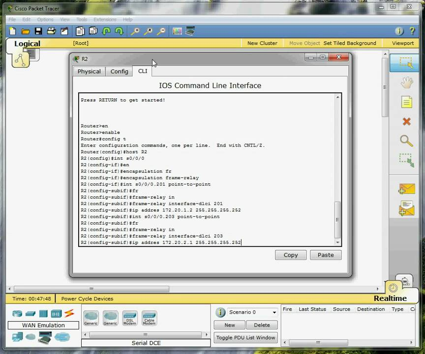 Packet Tracer 7 2 1 tutorial - Frame Relay configuration