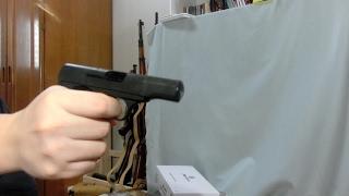 マルシン ブローニング M1910 モデルガン発火。