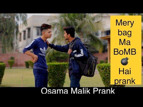 Mery Bag Ma BoMB Hai Prank || By Osama Malik ||In Pakistan