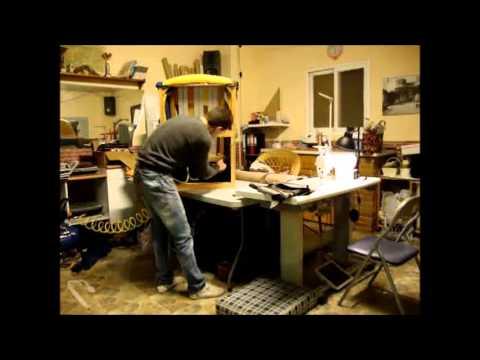 Como restaurar una silla de madera labrada parte 3 como - Tapizar sillon paso a paso ...