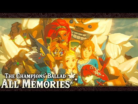 All Memories in The Champions' Ballad (Zelda: Breath of the Wild) English & Japanese
