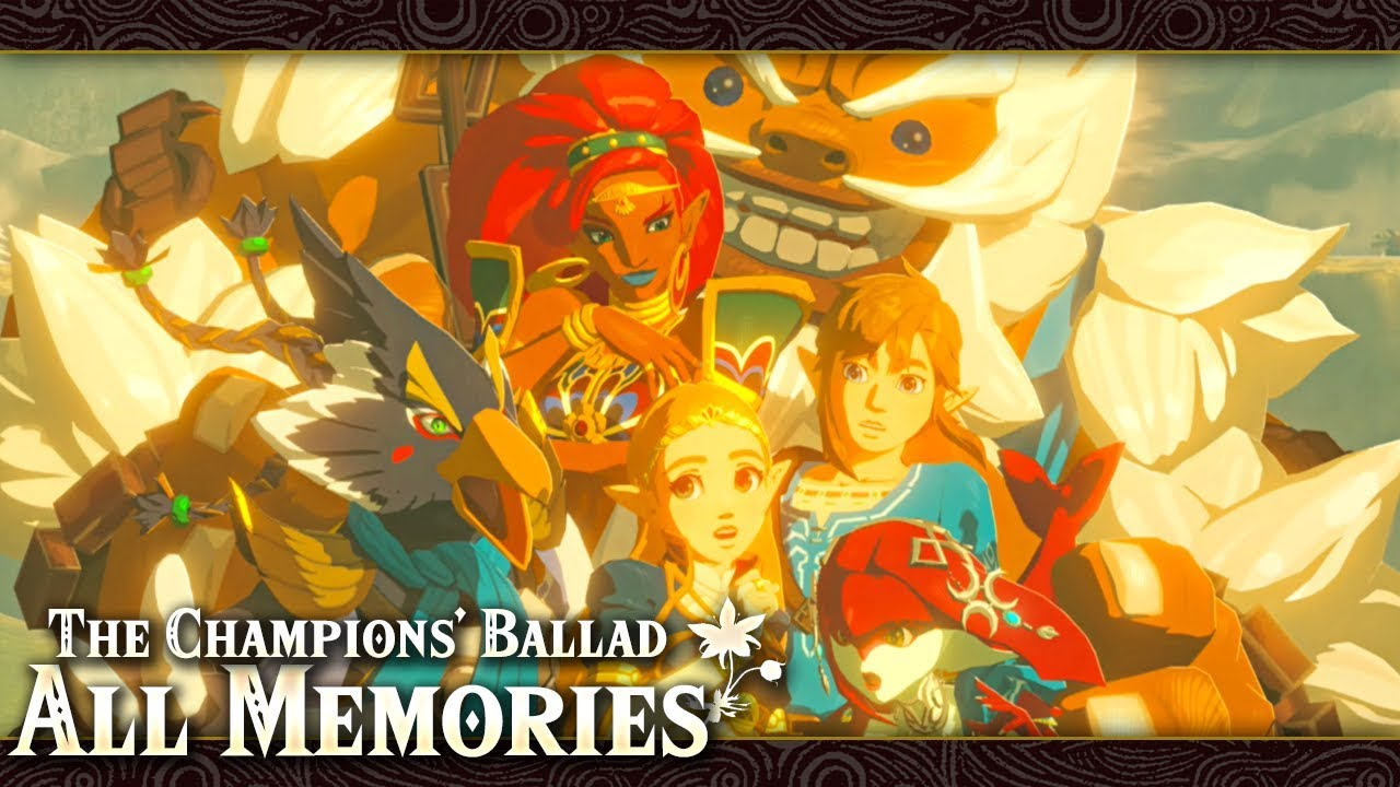 All Memories In The Champions Ballad Zelda Breath Of The Wild English Japanese Youtube