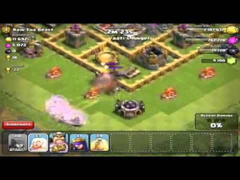 Clash Of Clans   INVINCIBLE KING   17 Healers + Barbarian King   EPIC Attack