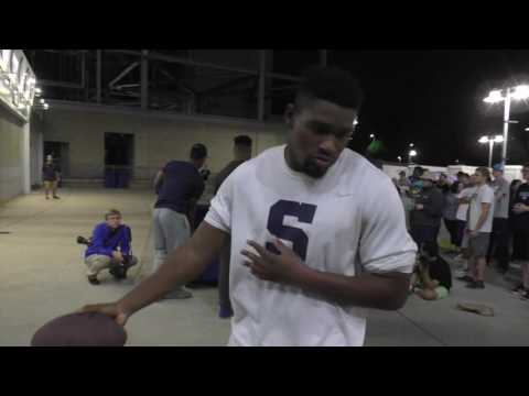 Is there anything Penn State's Saquon Barkley can't do? Watch trashcan football at Nittanyville