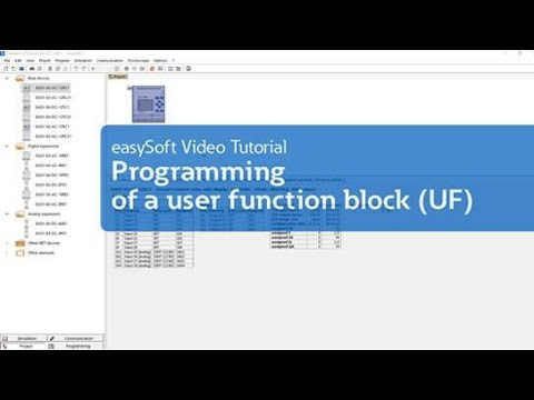 Programming of a user function block (UF)  (Tutorial) thumbnail
