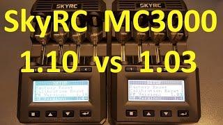 skyRC MC3000. Сравнение версий 1.03 и 1.10