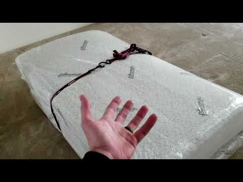 The Easiest Way To Move A Memory Foam Mattress With Ratchet Straps To Fit It In Your Car Or Storage