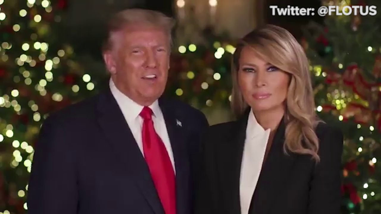 Trump 2021 Christmas Message Christmas Message From President Donald Trump First Lady Melania Trump Youtube