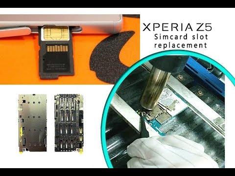 Sony Xperia Z5 (E6653) Simcard slot replacement / Reemplazo del conector sim