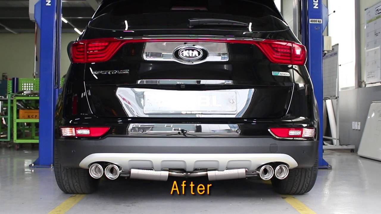 kia motor 2016 all new sportage r exhaust system youtube. Black Bedroom Furniture Sets. Home Design Ideas