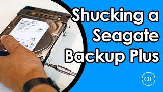 How to Remove / Shuck the Hard Drive from Seagate Backup Plus 5TB Drive