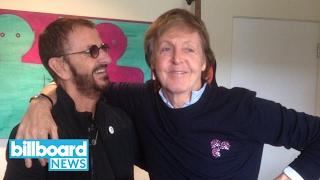 beatles ringo starr and paul mccartney have a studio reunion billboard news