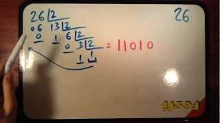 Pasar números a código binario - Lecciones de matemáticas