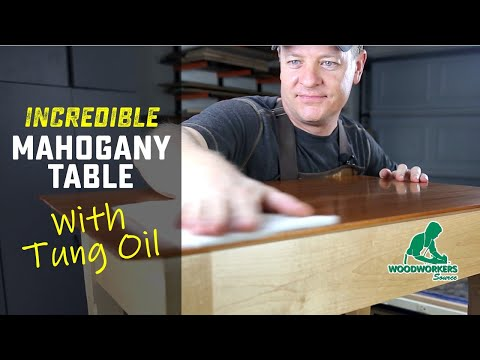 Here's A Beautiful Way to Finish Mahogany with Tung Oil, Step-by-Step