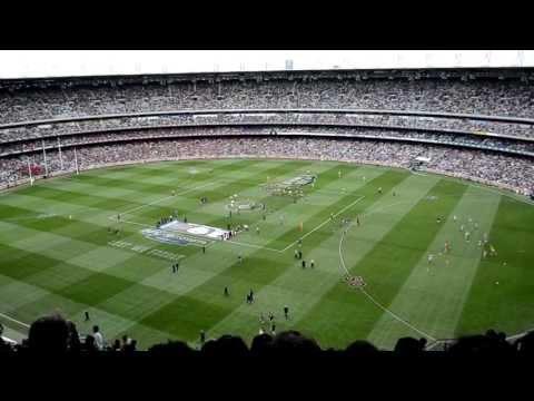 En el estadio MCG (Melbourne Cricket Ground)