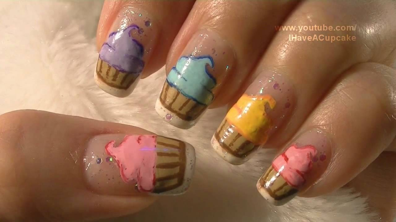 Yoko Nail Art Cupcake : Cupcake Nail Art Tutorial / Arte para las unas de ...