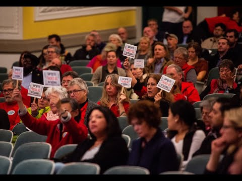 Hundreds gather to speak during public hearing on proposed L