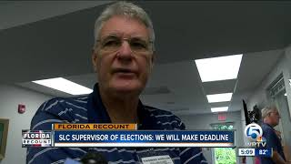 No issues so far in Martin County recount; only a few votes duplicated