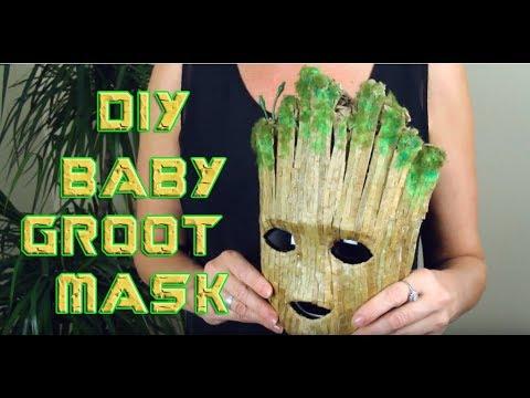 Diy Baby Groot Mask Win The Mask Halloween Giveaway 2018