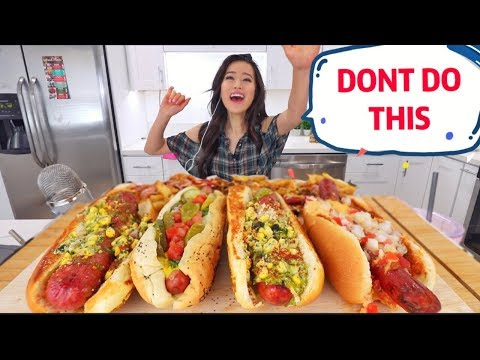Street Hot Dogs + Short Rib Fries MUKBANG | Eating Show