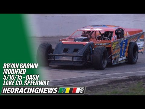 Bryan Brown Modified Dash at Lake County Speedway - 5//16/15 - NEO Racing News
