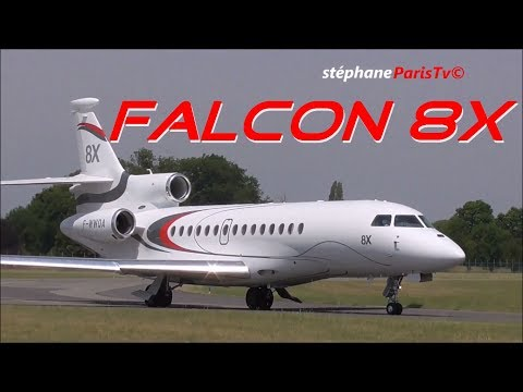 Dassault Falcon 8X flying Display at Paris Air Show 2017