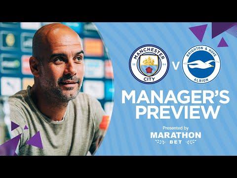 Pep Guardiola Previews City V Brighton   PRESS CONFERENCE