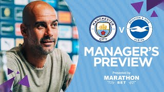 Pep Guardiola previews City v Brighton | PRESS CONFERENCE