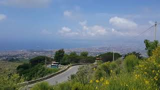 On the way up Vesuvius incredible views of Naples and Sorrento