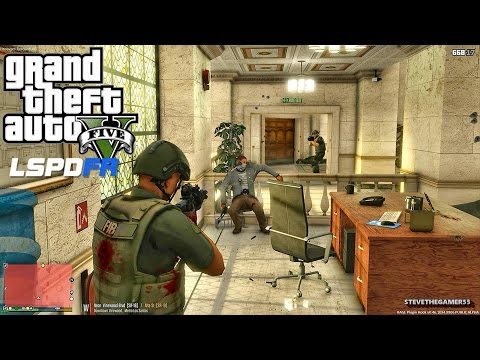 GTA 5 LSPDFR 0.3.1 - EPiSODE 205  - LET'S BE COPS - FIB/FBI SWAT PATROL (GTA 5 PC POLICE MODS)