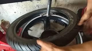 Máy ra vào lốp (vỏ)xe tay ga và xe đạp điện Quang Minh 0917506816