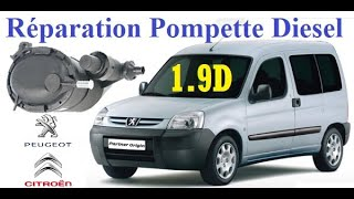 Peugeot Partner 1.9D : réparation pompe d'amorçage diesel définitive (pompe manuel)
