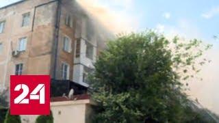 В Махачкале загорелась кровля пятиэтажки