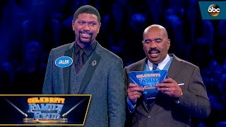 Jalen Roses Close Call on Fast Money - Celebrity Family Feud