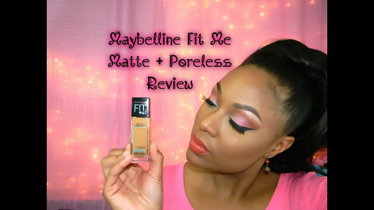 Maybelline Fit Me Matte Poreless Foundation Review Youtube Airyrooms 30ml