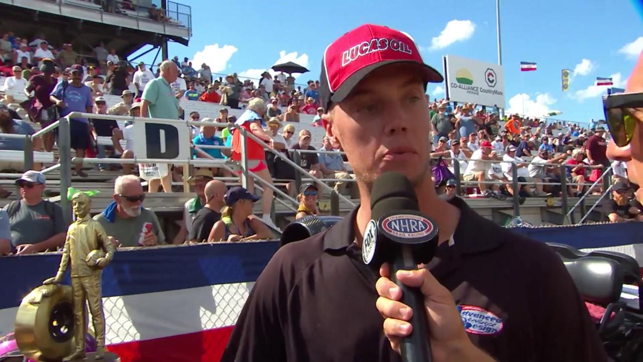 2018 Chevrolet Performance U.S. Nationals Super Comp winner Joe Hessling