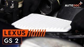 LEXUS GS (UZS161, JZS160) Jousi asennus : ilmainen video