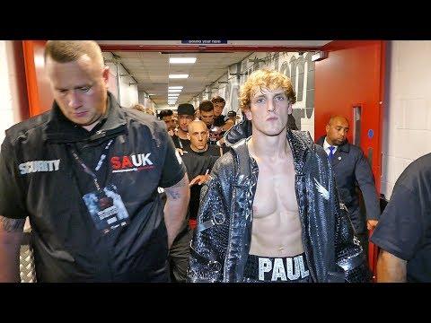 Logan Paul RING WALK & BEHIND THE SCENES ACTION vs KSI