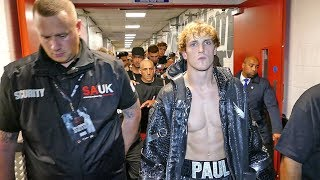 Logan Paul RING WALK & BEHIND THE SCENES ACTION vs KSI