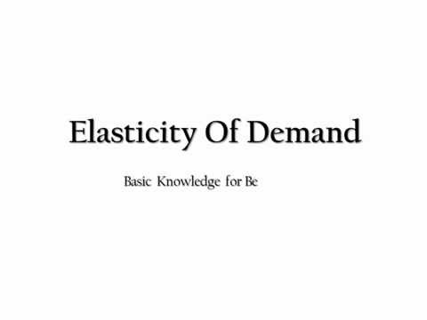 Elasticity of Demand- Basic Knowledge (Theory)