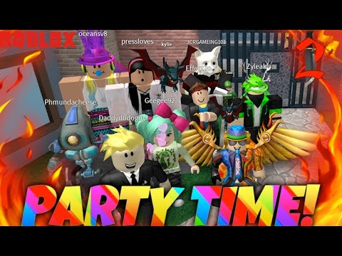 Party Time! | Roblox Murder Mystery 2 with SallyGreen, Zyleak and more!