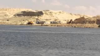 قناة السويس الجديدة : فيديو حصرى للحفر فى أول أيام عيد الاضحى بقناة السويس الجديدة