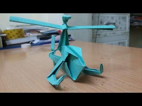 Origami - Làm trực thăng giấy