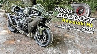 219PS mit Kompressor/Turbo?!   Kawasaki H2 im Test   Webon one